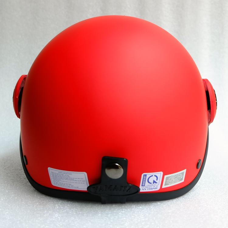 Mũ Bảo Hiểm có kính 1/2 đầu đỏ tươi