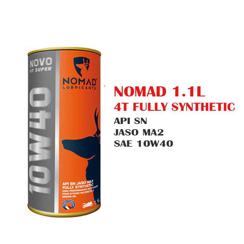 Combo mua nhớt Tổng hợp toàn phần NOMAD 1.1L API SN Tặng 1 bàn chà sên xe máy