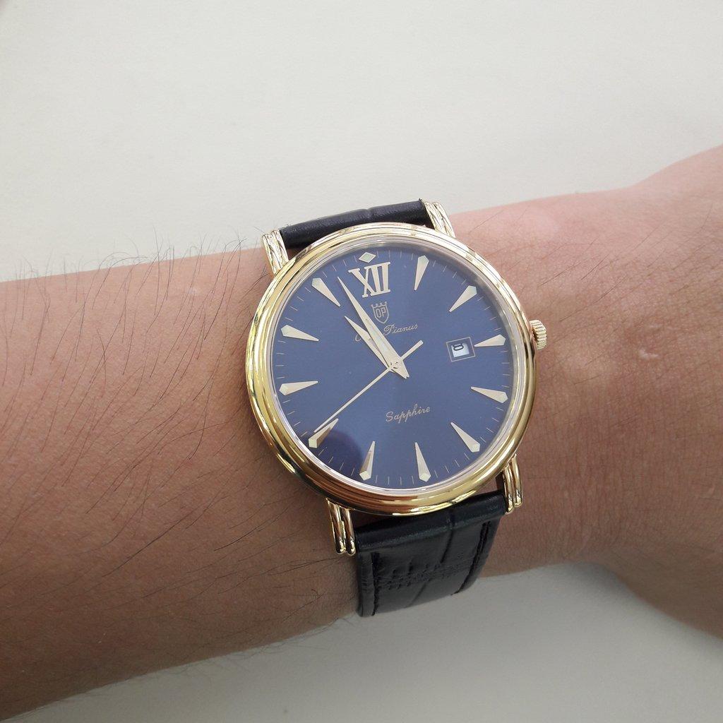 Đồng hồ nam dây da Olym Pianus OP130-07MK-GL xanh
