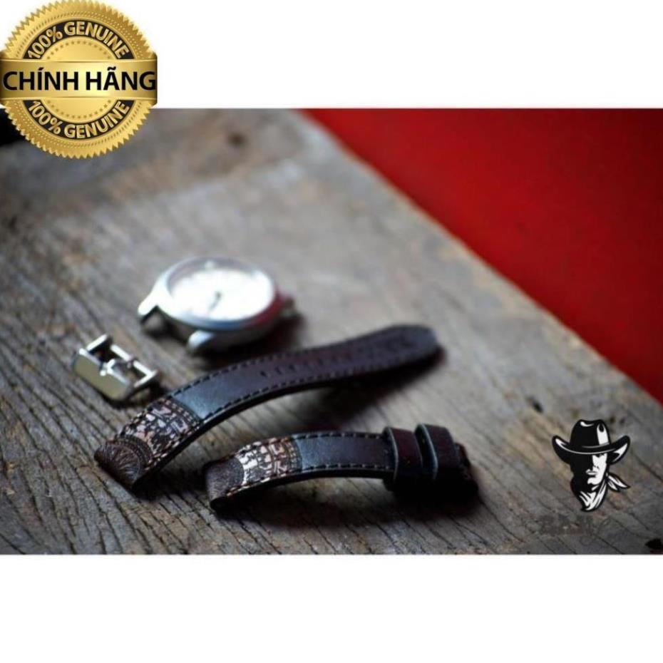 Dây đồng hồ Ram Traditional Black (Da bò thuộc bằng thảo mộc) - HÀNG CHÍNH HÃNG