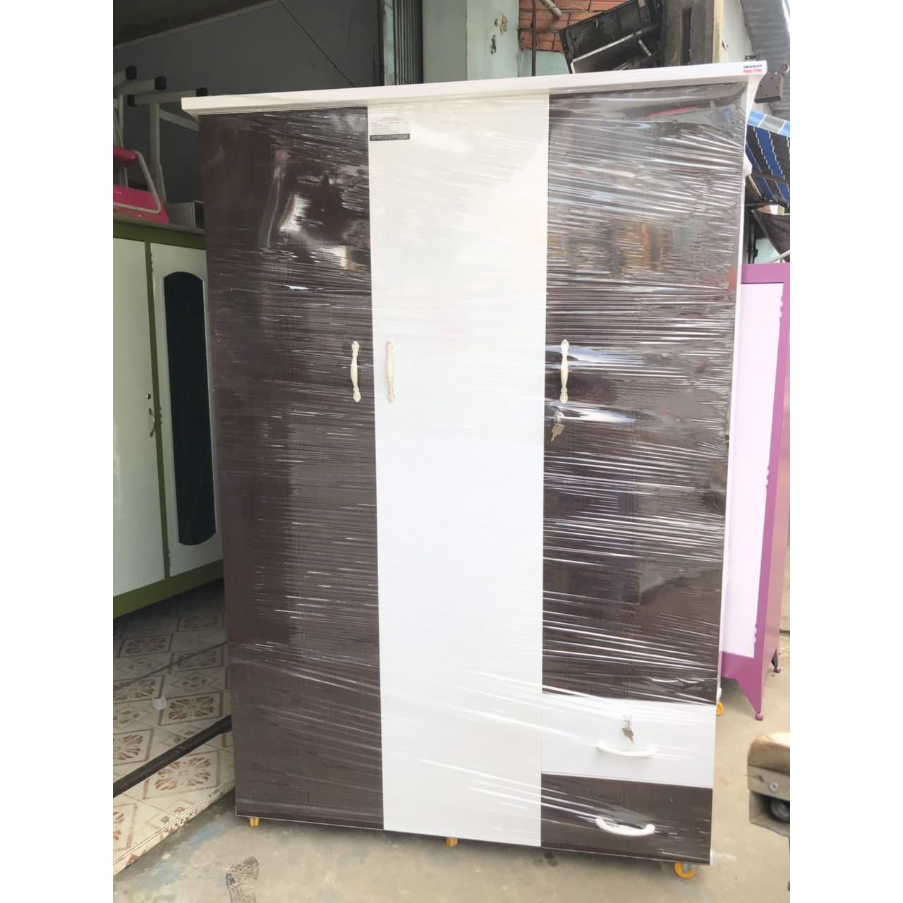 Tủ quần áo bằng nhựa đài loan 1m85 x1m25x48cm  -  tím