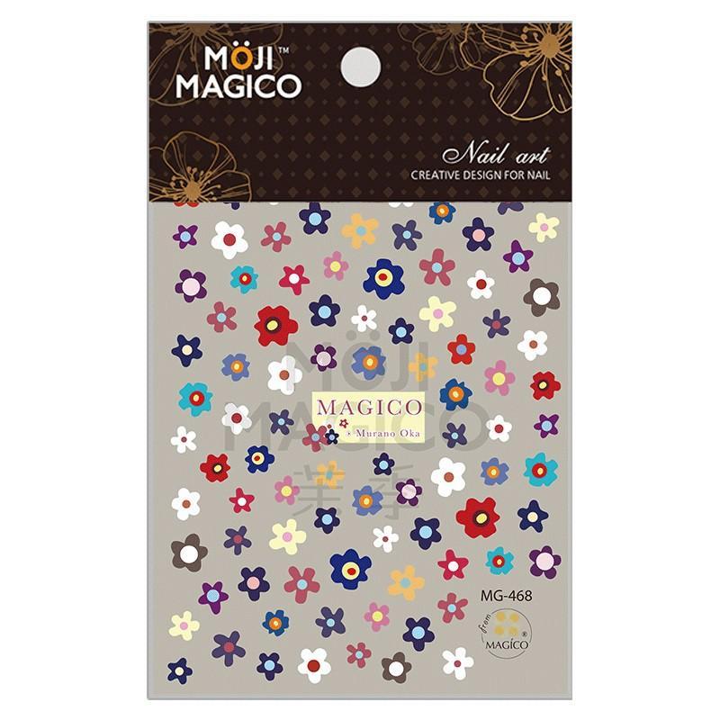 Sticker nails Magico hoa 5 cánh - hình dán móng 3D 468