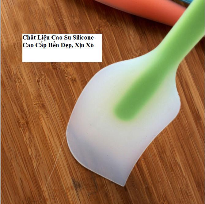 Muỗng phết kem, trộn bột, dụng cụ làm bánh Cao Cấp siêu tiện dụng, đa chức năng-GD426-QKem-Mau (giao ngẫu nhiên)