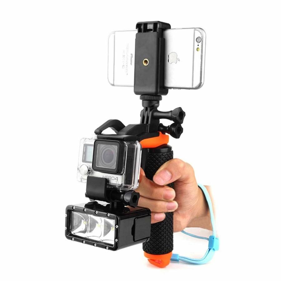 Gậy phao tay cầm đa năng, thiết kế nổi trên mặt nước cho điện thoại và camera hành trình Gopro, SJCAM, GitUp, Eken