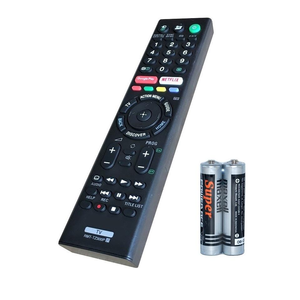 Remote Điều Khiển Dành Cho Smart TV, Internet TV SONY RMT-TZ300P (Kèm pin AAA Maxell)
