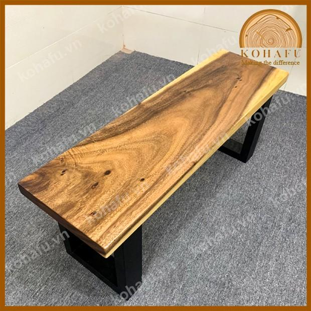 Băng ghế gỗ me tây nguyên tấm Kohafu