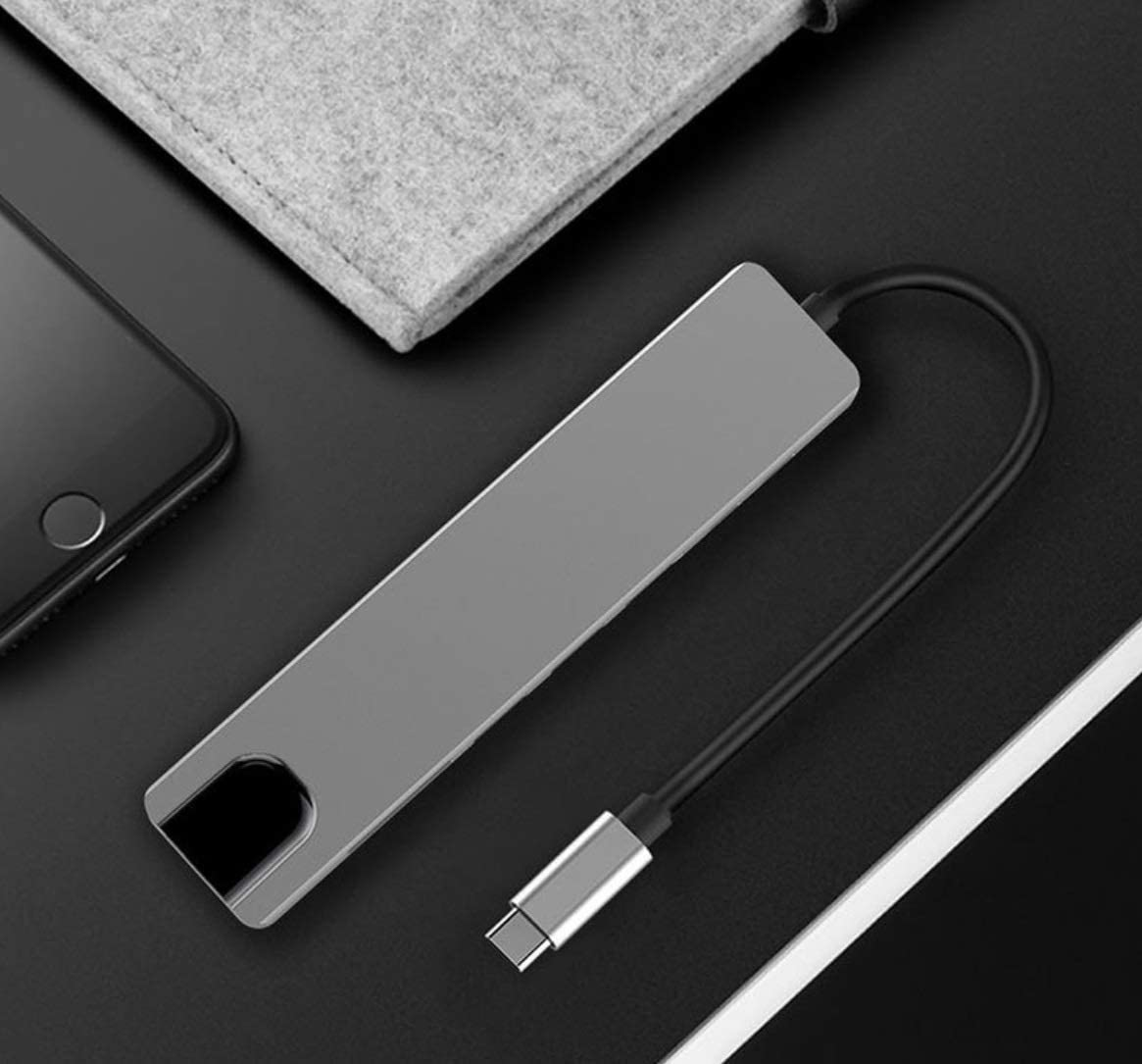 Hub USB Type-c cho Samsung Dex, Macbook - HDMI, Ethernet, USB3.0, Type-c
