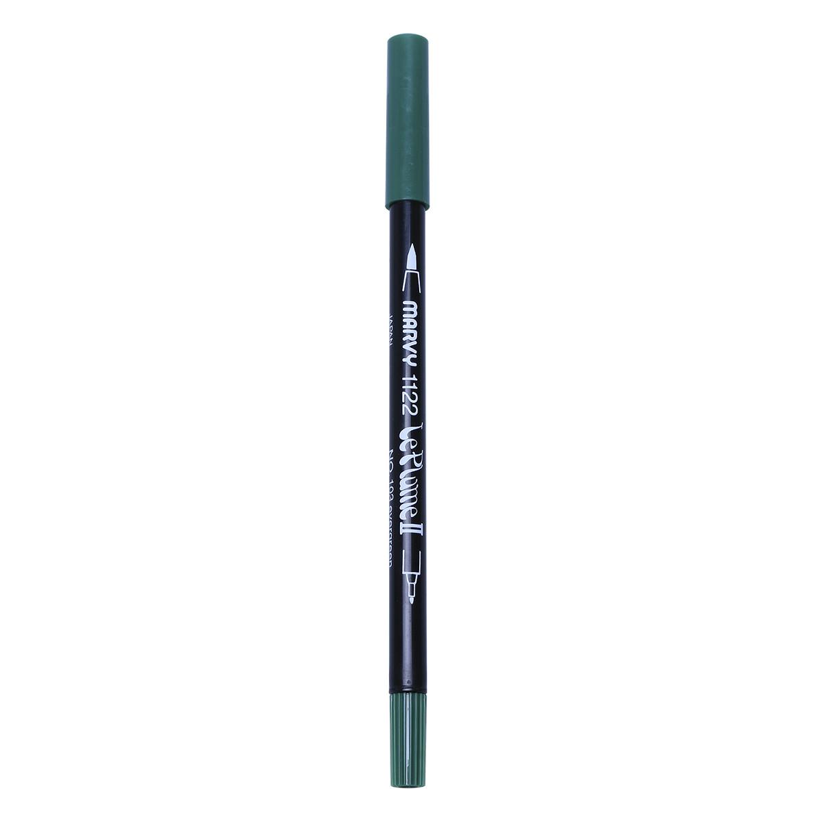 Bút lông hai đầu màu nước Marvy LePlume II 1122 - Brush/ Extra fine tip - Evergreen (103)