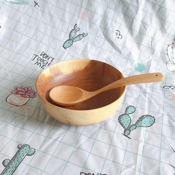 Bát salad gỗ keo lớn (D21,5cmxH8,5cm)