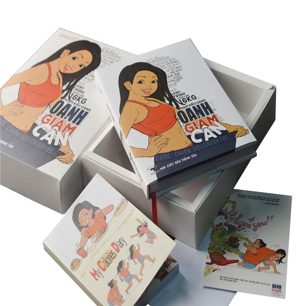 Combo Truyện Oanh Giảm Cân bìa cứng phiên bản đặc biệt, kèm  Sổ tay và Postcard giảm cân