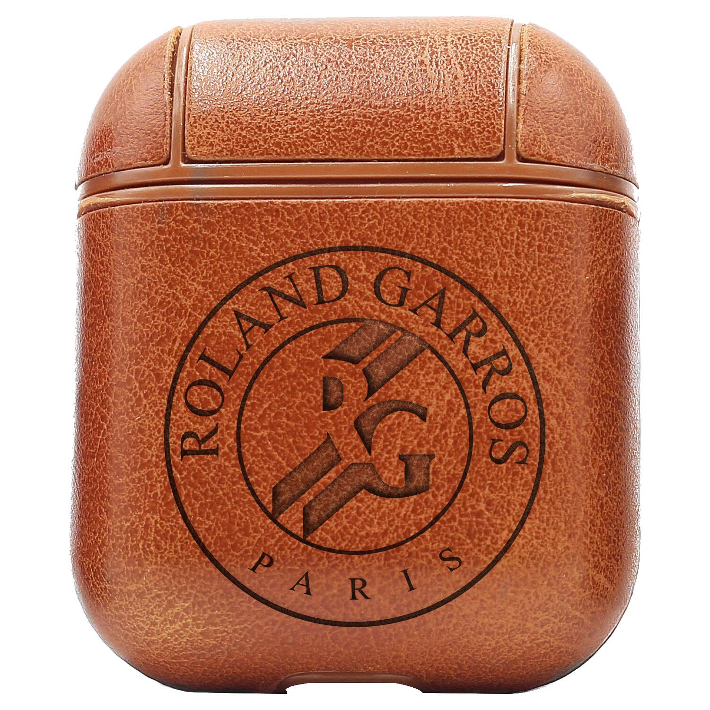 Bao Da Cover Dành Cho Apple Airpods 1 / 2 Premium  Khắc Hình Logo Roland Garros