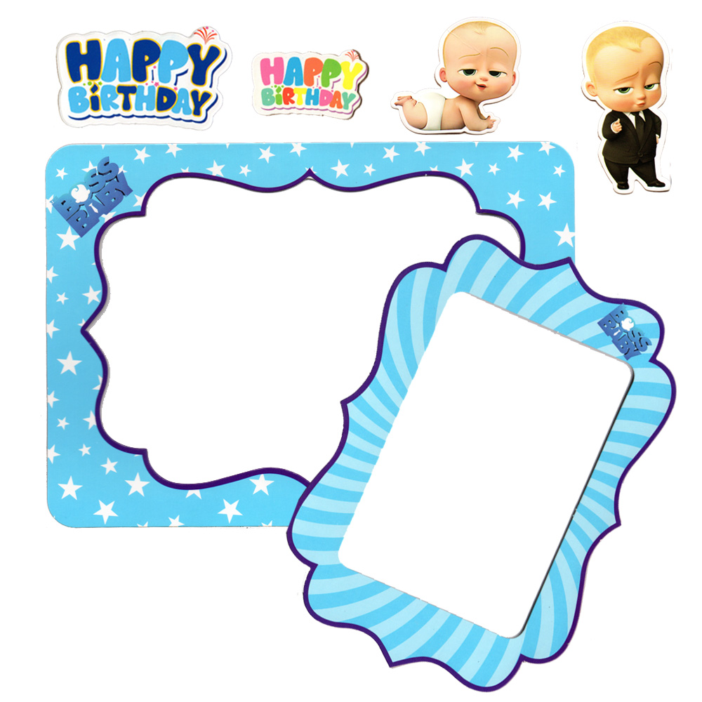 2 khung hình giấy để bàn trang trí sinh nhật - boss baby
