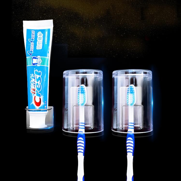 Bộ combo 4 móc treo bàn chải, kem đánh răng tiện lợi VANDO