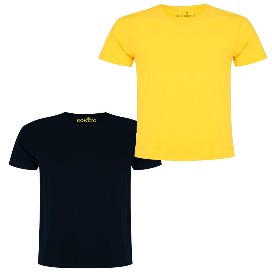 Combo 2 Áo thun thoát nhiệt Nhật Bản GOKING cho trẻ em, áo phông bé trai và bé gái, hàng hiệu cao cấp xuất khẩu - Đen  Vàng - 10