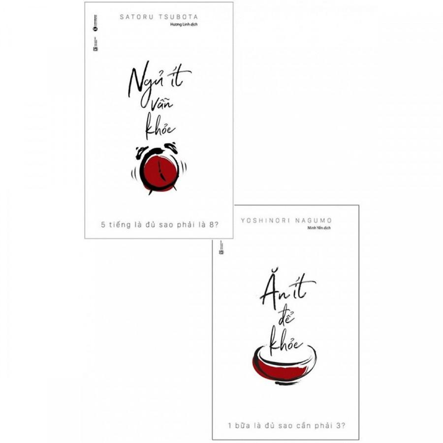 Combo Sách Y Học Hay: Ăn Ít Để Khỏe + Ngủ Ít Vẫn Khỏe - (Tặng Kèm Bookmark Phương Đông)
