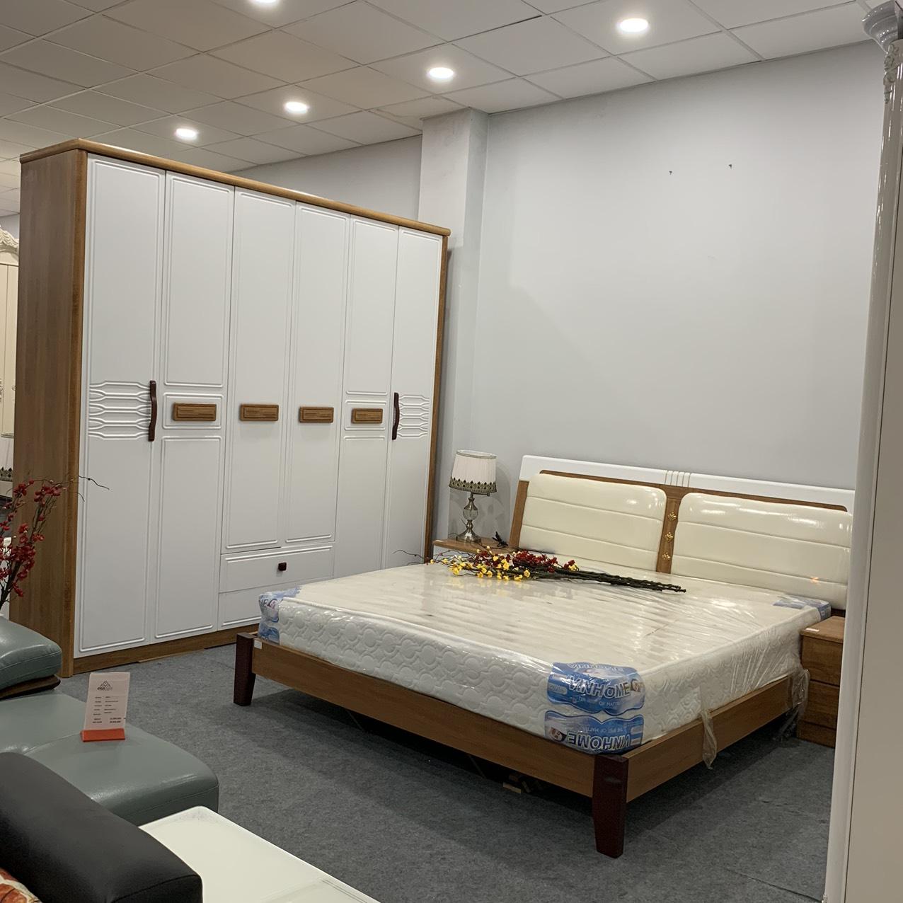 Bộ giường tủ nhập khẩu cao cấp nguyên kiện 853