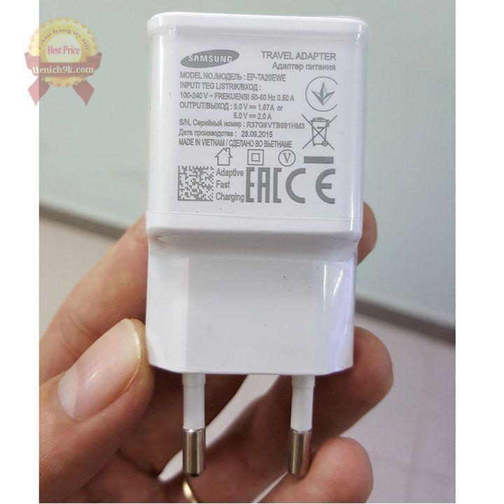 Củ sạc nhanh fast charging Foxconn cho điện thoại samsung QC 9V-1.67A và 5V-2A cốc S9 S10 + note
