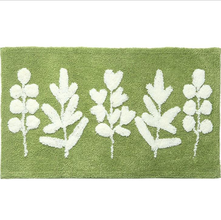 Thảm Cotton Len Chiếc Lá Xanh PA9216