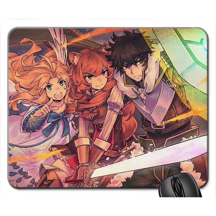 Mouse pad , miếng Lót chuột máy tính, đồ di chuột máy tính hình Anime Tate no Yūsha no Nariagari -The Rising of the Shield Hero - Sự Trỗi Dậy Của Khiên Hiệp Sĩ