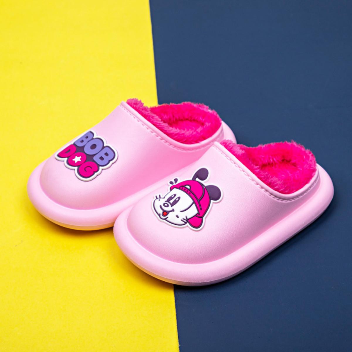 Giày Trẻ Em Bobdog BD - 6030 Dép Sục Lót Lông Cho Bé Trai Bé Gái Siêu Mềm Ấm, Chống Trơn Trượt