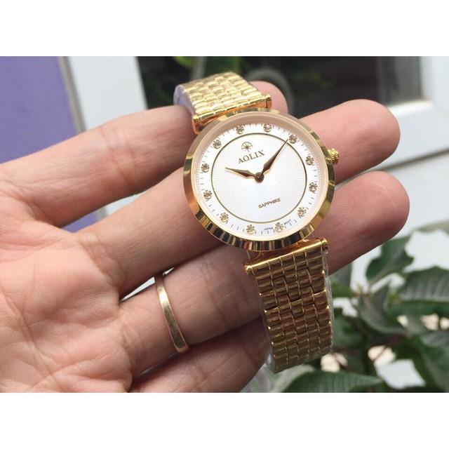 Đồng hồ đôi nam nữ giá 1 cặp Aolix chính hãng máy nhật