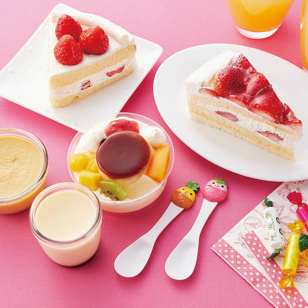 Set 2 muỗng ăn bánh ngọt, ăn kem, sữa chua hình quả dứa và quả dâu ngộ nghĩnh hàng nội địa Nhật Bản