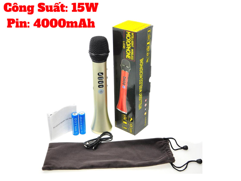 Micro Bluetooth Karaoke L698 Hỗ Trợ Karaoke Trên Ô Tô Mẫu Mới