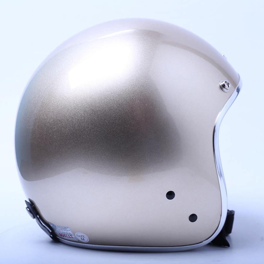 Mũ Bảo Hiểm 3/4 Chita Ron Bạc - Vàng Đồng Sơn Bóng (Size M)