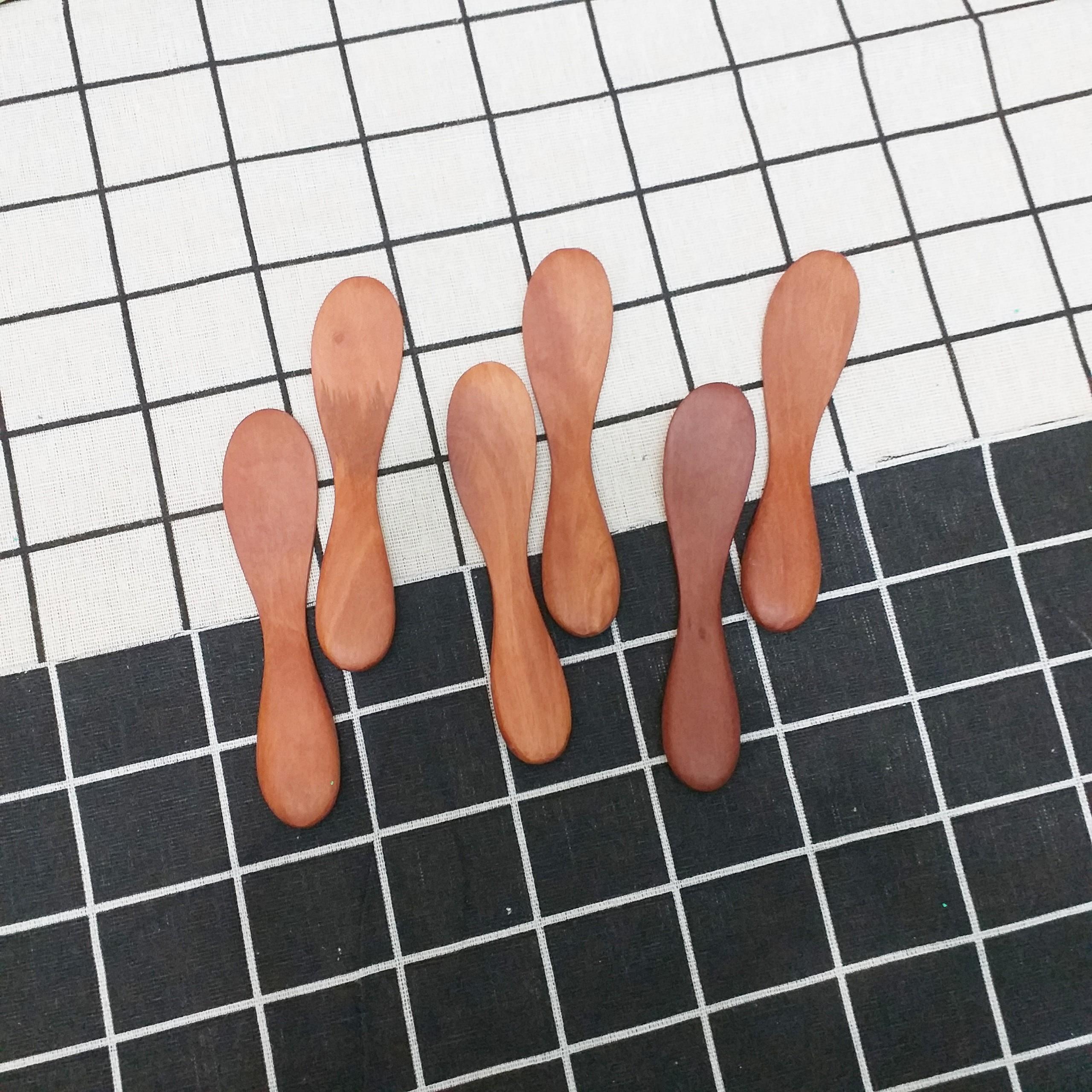 Bộ 6 thìa gỗ Nhãn lấy bơ Bánh mỳ (12cm) - (N11)
