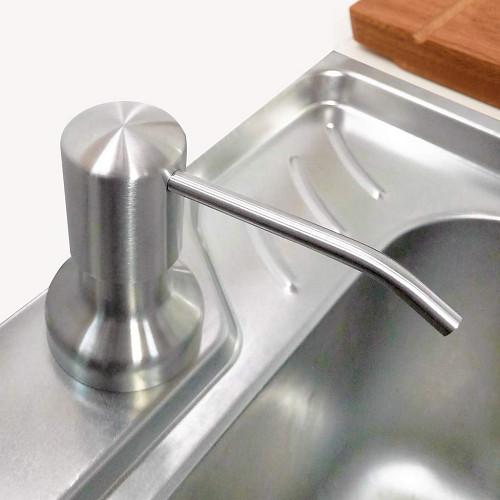Bình Đựng Xà Phòng Rửa Chén Nhựa ABS Có Vòi Xịt Gắn Chậu Rửa