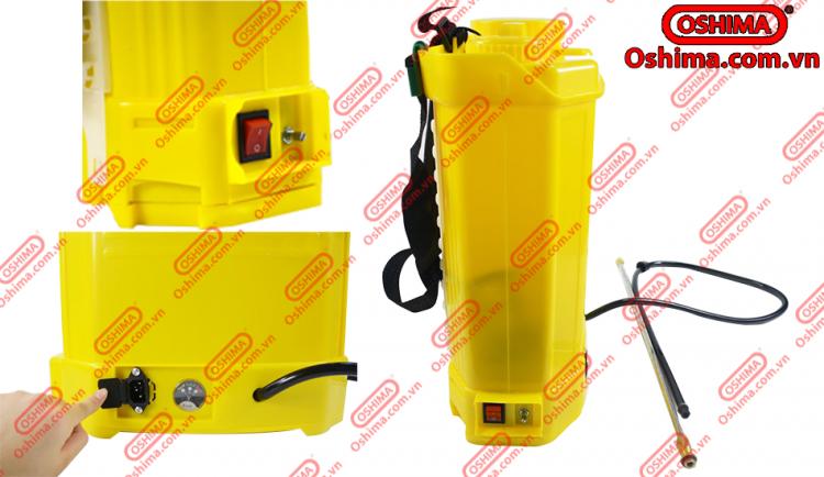 cổng xạc và báo vol bình xịt điện COV 16