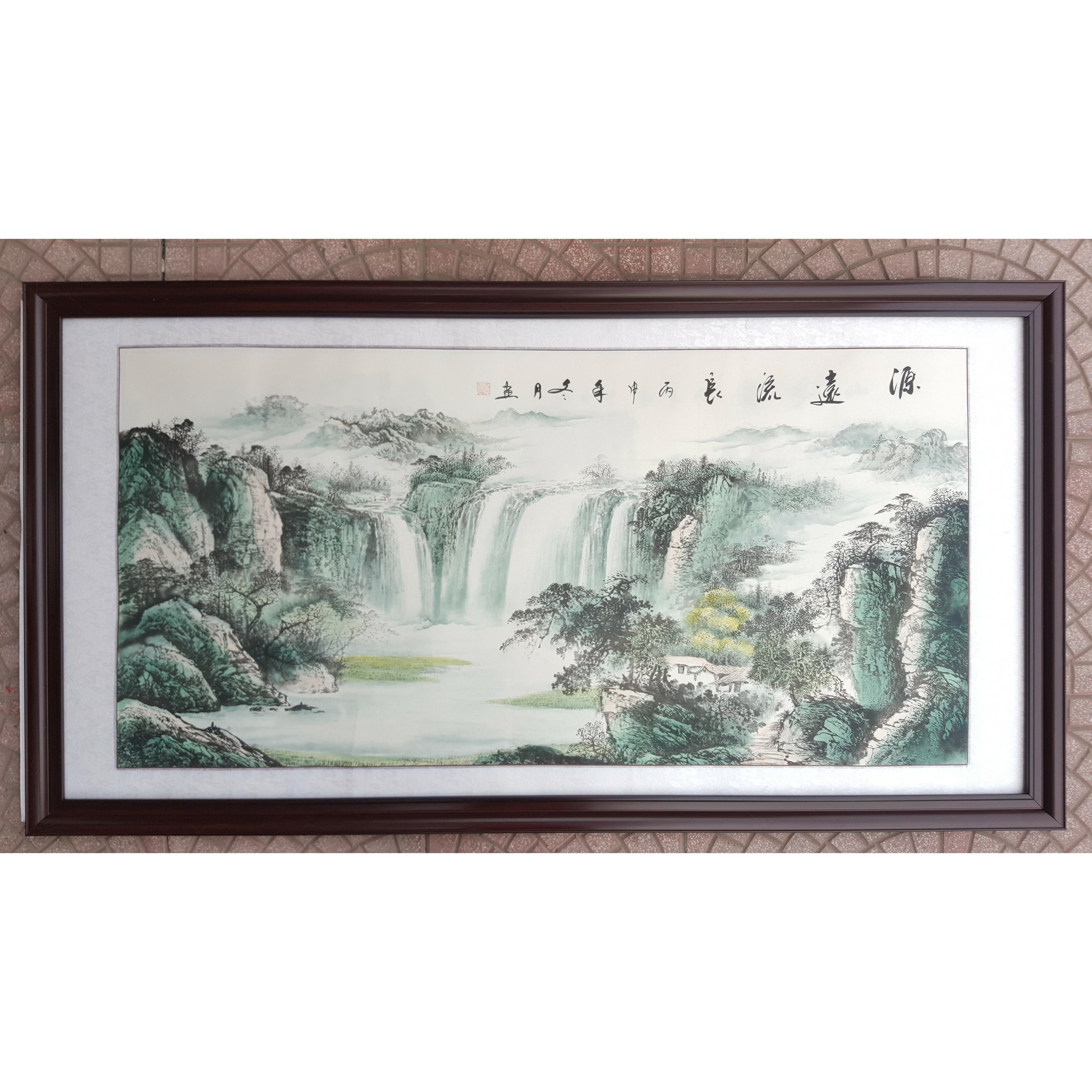 Tranh thủy mặc , sơn thủy hữu tình (tranh treo phòng khách)-TM71-10