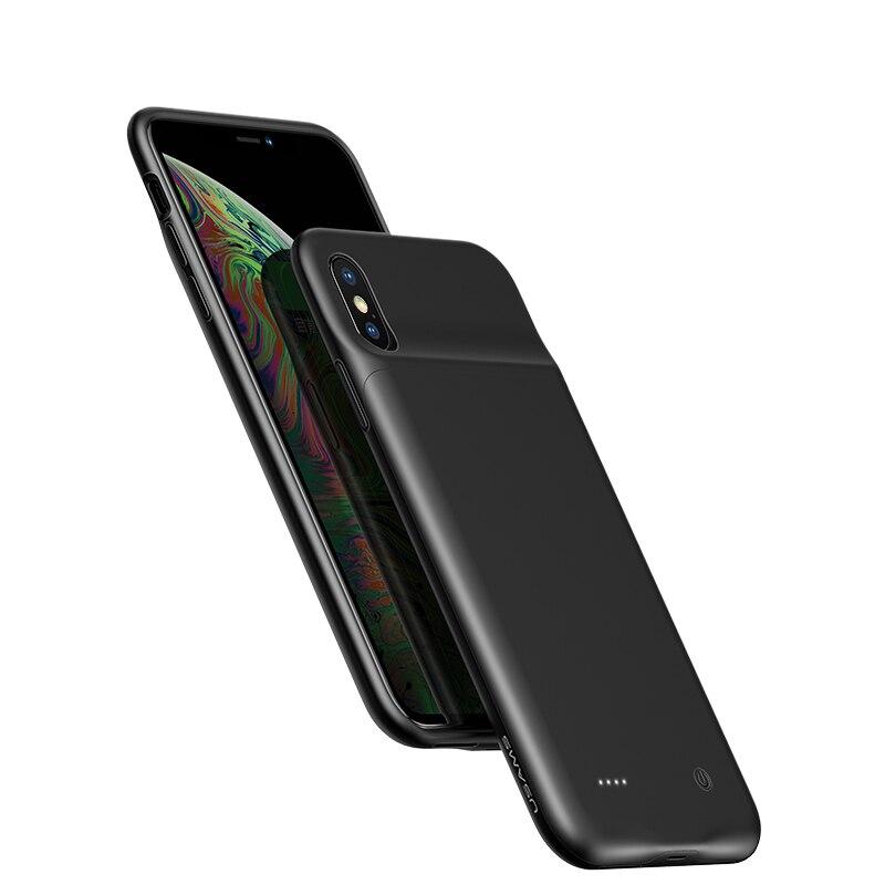 Ốp lưng siêu mỏng kiêm Pin sạc dự phòng 4000 mAh cho iPhone XS Max hiệu Usams  Rechargeable Back Case (thiết kế siêu mỏng, bảo vệ toàn diện, trang bị chip sạc thông minh) - Hàng nhập khẩu