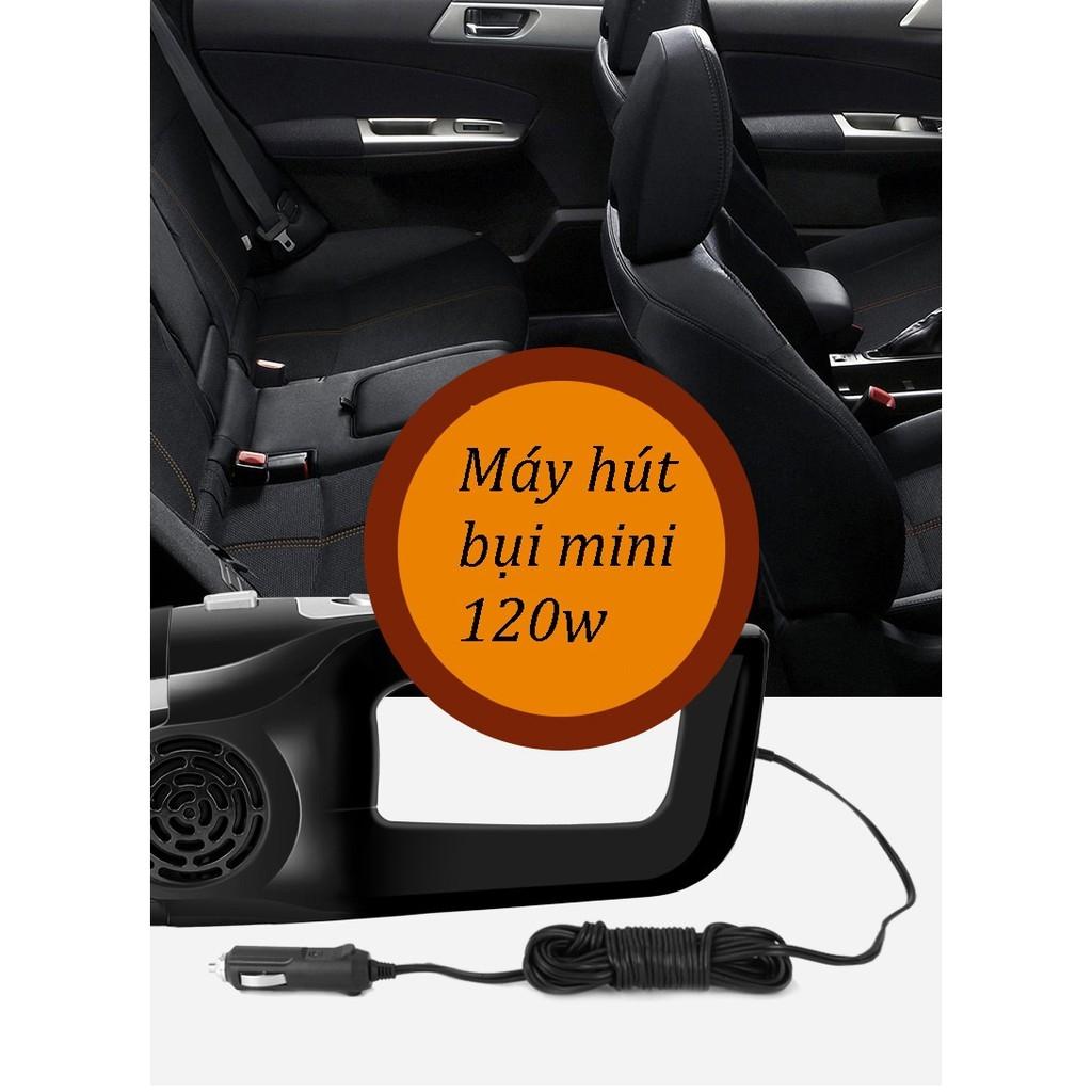 Máy Hút Bụi  Dùng Điện 12V Trên Xe Ô Tô Công Suất 120W Model 2019(Giao Màu Ngẫu Nhiên)
