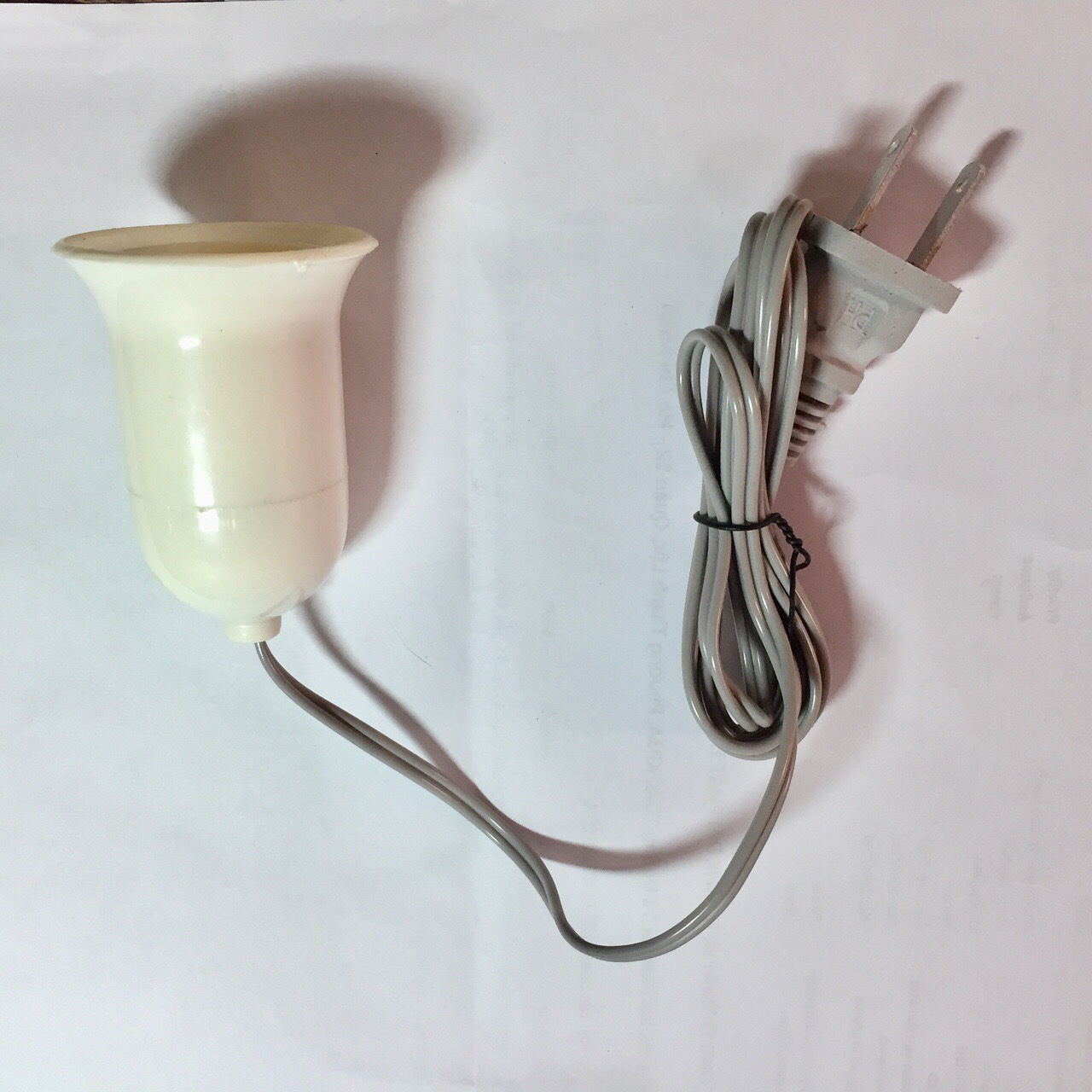 Chuôi bóng đèn có công tắc dây 1.5m (trắng)