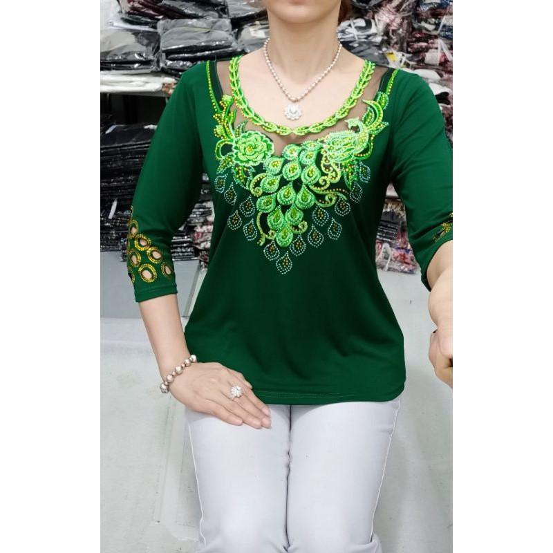 Áo trung niên cho mẹ, bà size 60-80kg. vải thun nhập hàn bao đẹp