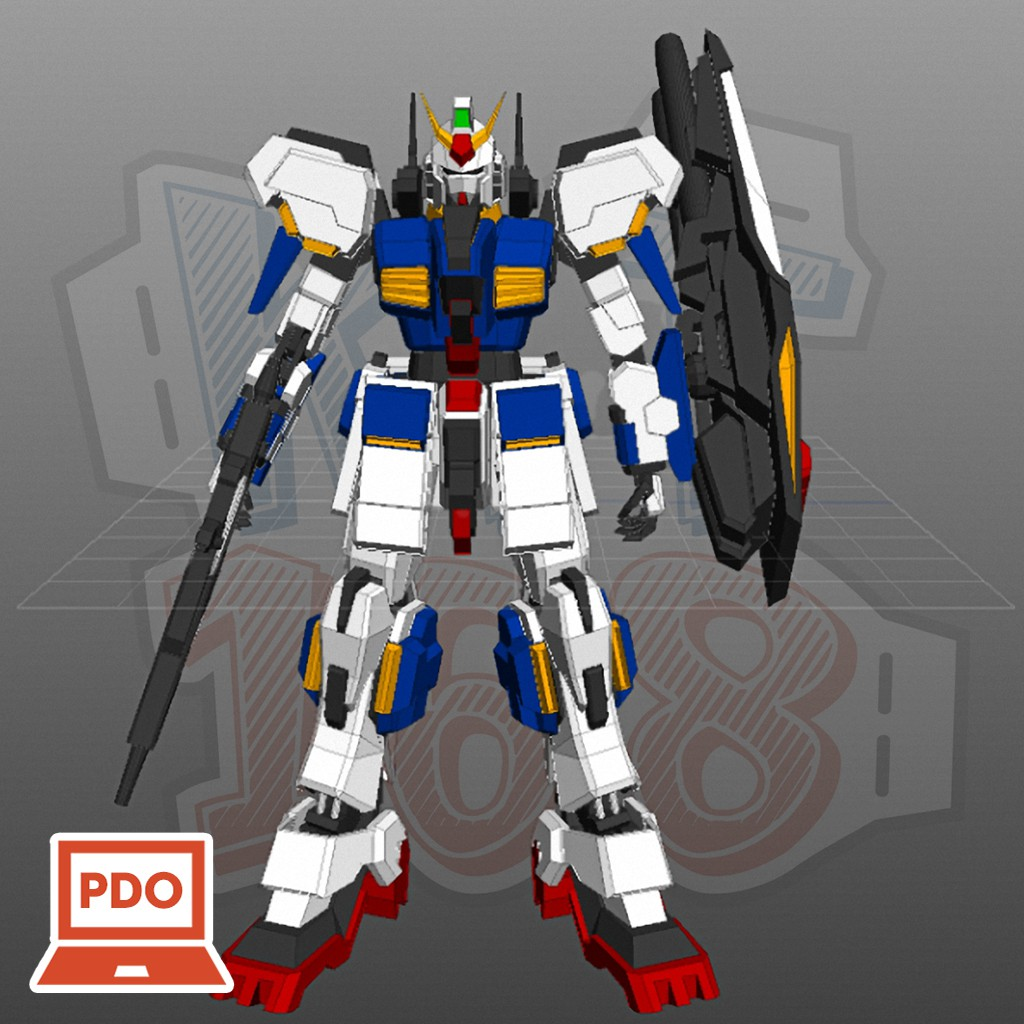 Mô hình giấy Gundam Robot RX-178 Gundam Mk II
