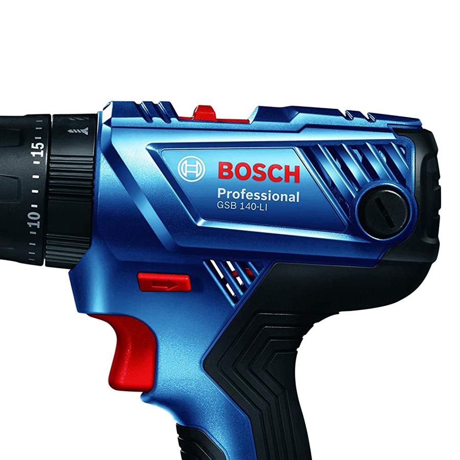 Máy Khoan Vặn Vít Dùng Pin Động Lực Bosch GSB 140-LI + Phụ Kiện