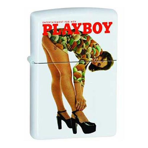 Bật Lửa Zippo 20497 Playboy Retro Girl White Matte