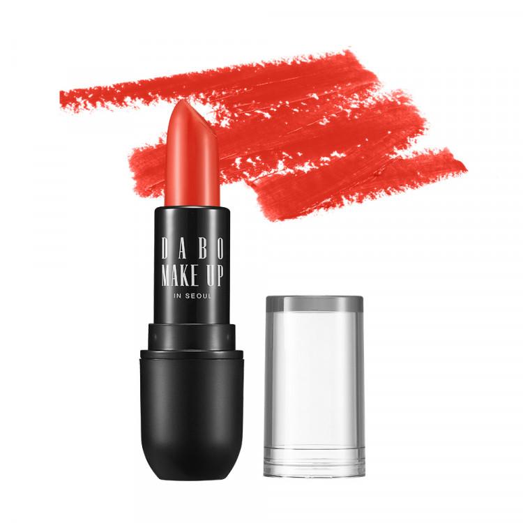 Son thỏi siêu lì nịnh môi Dabo Make Up Real RouGe Matte Hàn Quốc No.112 (Sun Shine Red) + Móc khoá 2