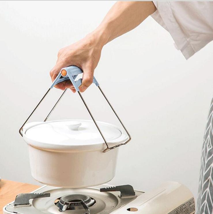 Dụng cụ kẹp gắp bát đĩa chống nóng thông minh, khay inox kẹp đồ nóng nhà bếp đa năng - GIAO MÀU NGẪU NHIÊN