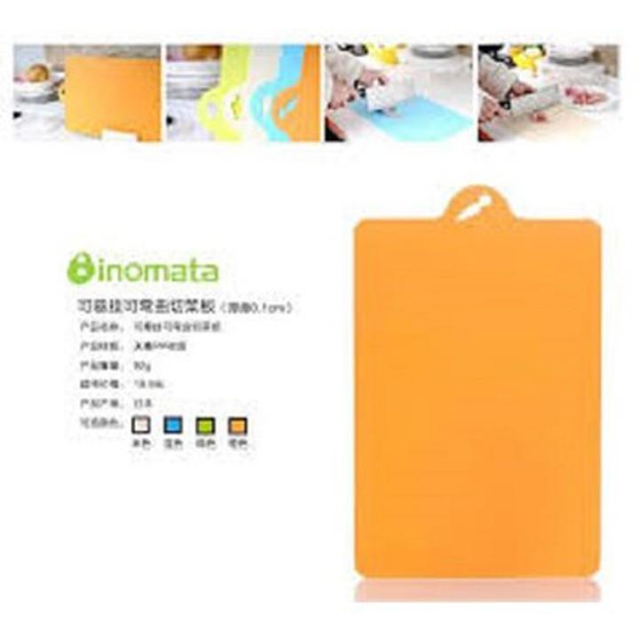 Bộ 2 thớt nhựa dẻo (màu cam) - Hàng Nhật nội địa