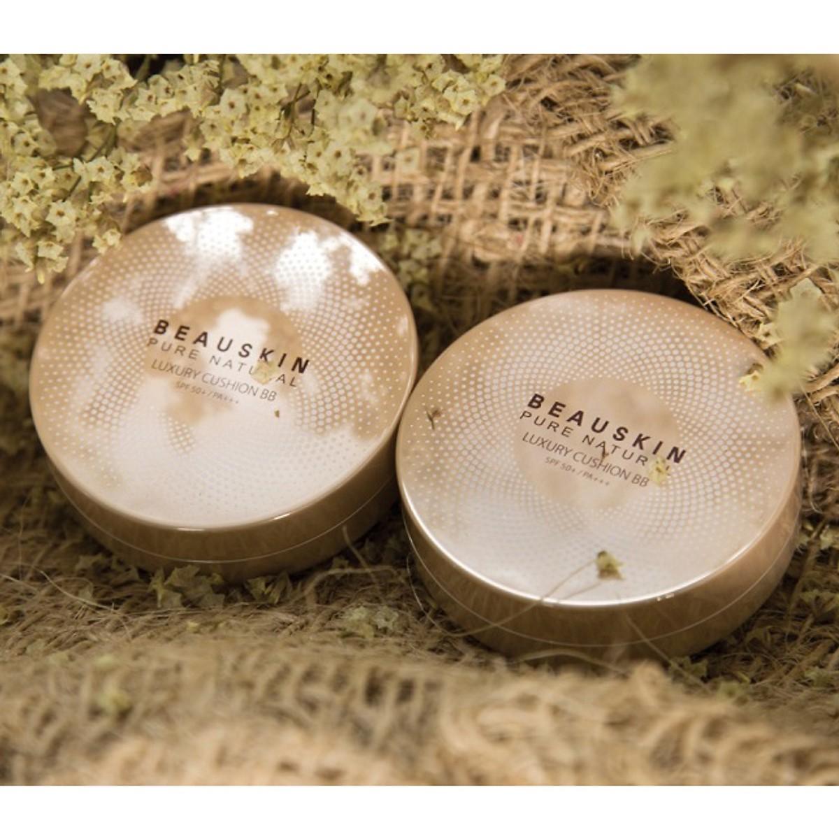 Phấn nước mỏng mịn, che phủ tốt Beauskin Luxury Cushion Hàn Quốc 2x11g (Thêm lõi) tặng kèm móc khóa cute