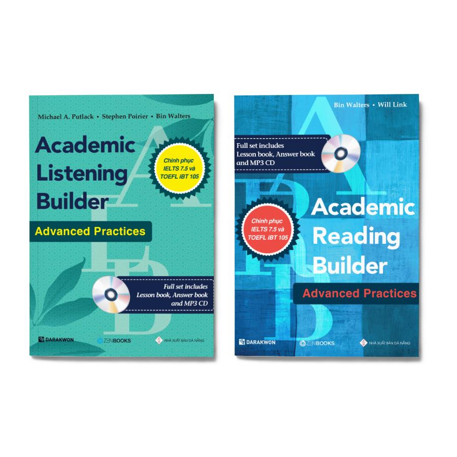 Combo 2 cuốn: Academic Listening Builder + Academic Reading Builder