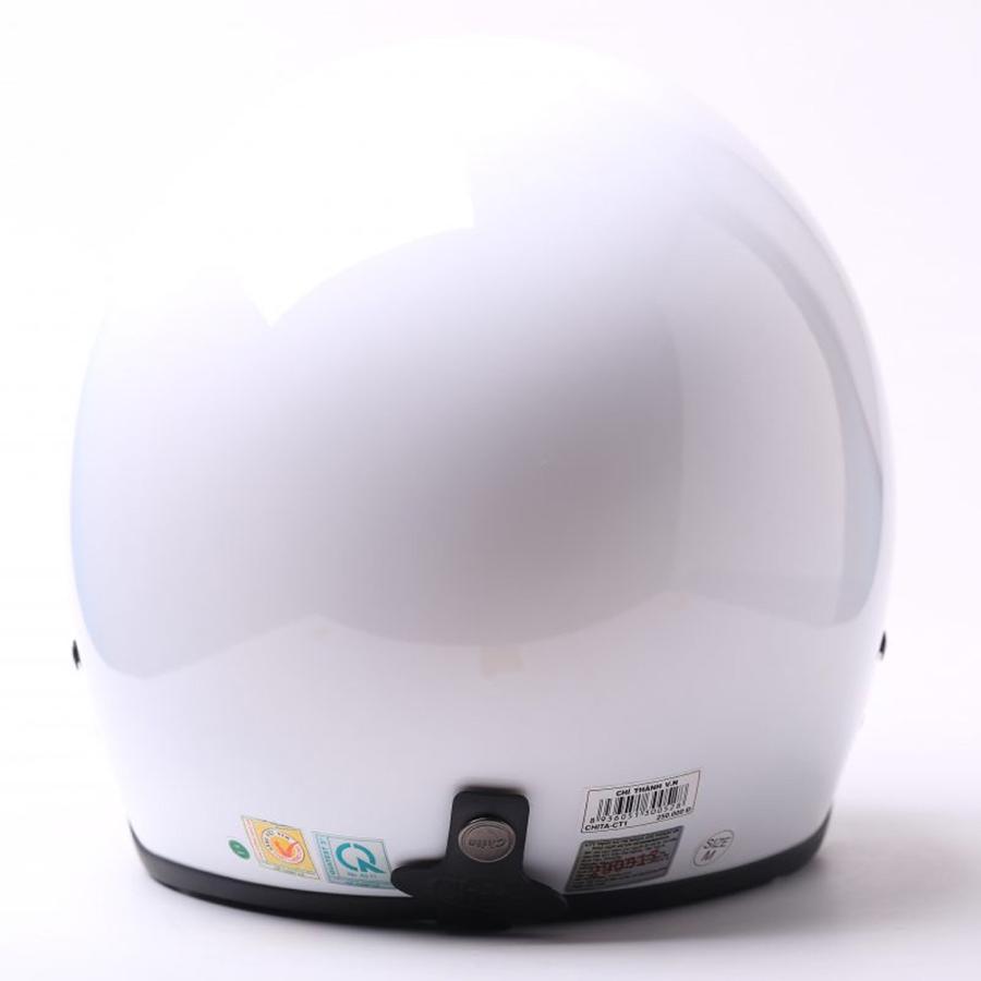 Mũ Bảo Hiểm 3/4 Chita - Trắng Sơn Bóng (Size M)