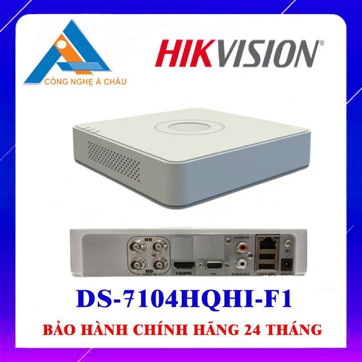 ĐẦU GHI HÌNH 4 KÊNH HIKVISION DS-7104HQHI-F1 - Hàng Chính Hãng