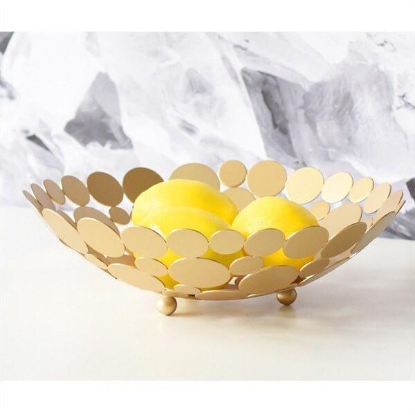 Khay quả hợp kim vàng Gold