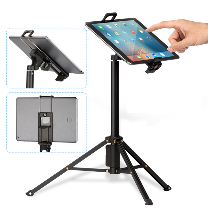 Đế kẹp 2in1 điện thoại máy tính bảng tablet ipad gắn chân máy ảnh tripod