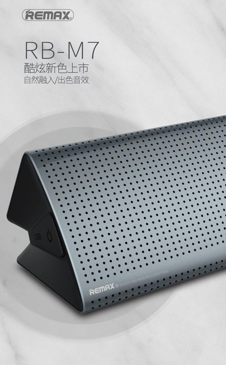 Loa Bluetooth Remax RB-M7 (Đen) - Hàng Nhập Khẩu