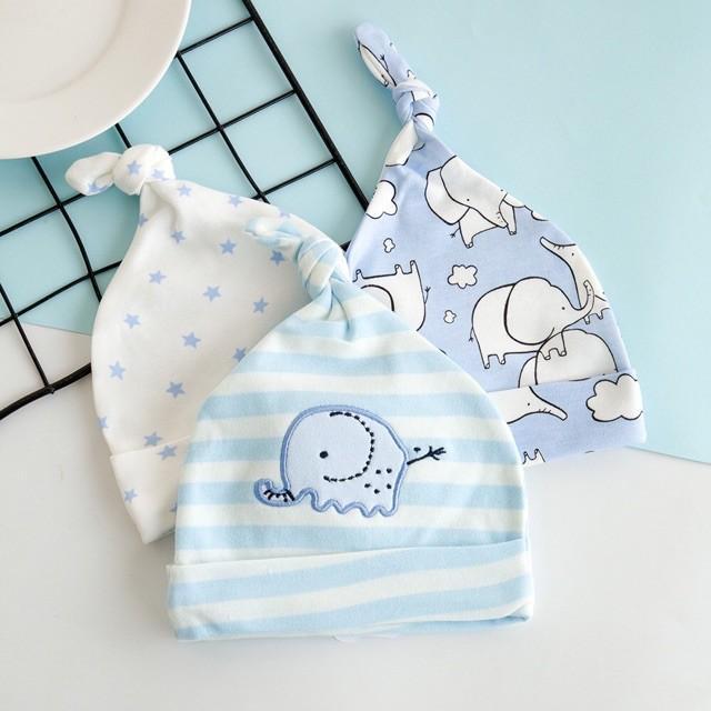 Set 3 mũ thắt nút siêu xinh cho bé sơ sinh